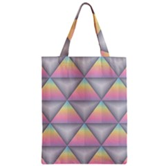 Background Colorful Triangle Zipper Classic Tote Bag