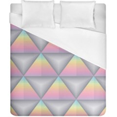 Background Colorful Triangle Duvet Cover (california King Size) by Nexatart