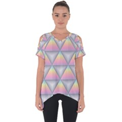 Background Colorful Triangle Cut Out Side Drop Tee
