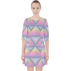 Background Colorful Triangle Pocket Dress