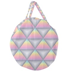 Background Colorful Triangle Giant Round Zipper Tote