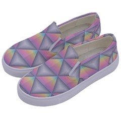 Background Colorful Triangle Kids  Canvas Slip Ons by Nexatart