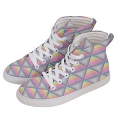Background Colorful Triangle Men s Hi Top Skate Sneakers by Nexatart