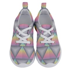 Background Colorful Triangle Running Shoes