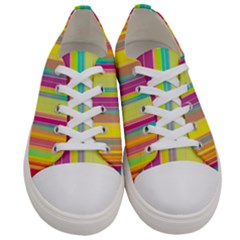 Background Colorful Abstract Women s Low Top Canvas Sneakers