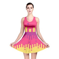 Background Image Reversible Skater Dress