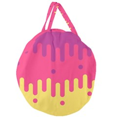 Background Image Giant Round Zipper Tote