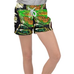 Lillies In The Terracota Vase 5 Women s Velour Lounge Shorts