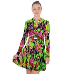 Spring Ornaments Long Sleeve Panel Dress
