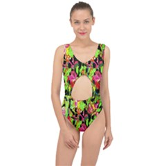 Spring Ornaments Center Cut Out Swimsuit