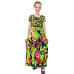 Spring Ornaments 1 Kids  Short Sleeve Maxi Dress