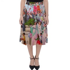 North  Korea   Propaganda Folding Skater Skirt