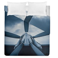 Propeller - Sky Challenger Duvet Cover Double Side (queen Size) by FunnyCow