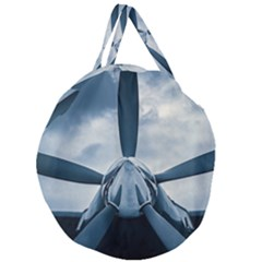 Propeller   Sky Challenger Giant Round Zipper Tote by FunnyCow