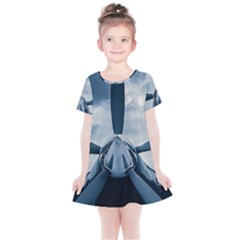 Propeller - Sky Challenger Kids  Simple Cotton Dress by FunnyCow