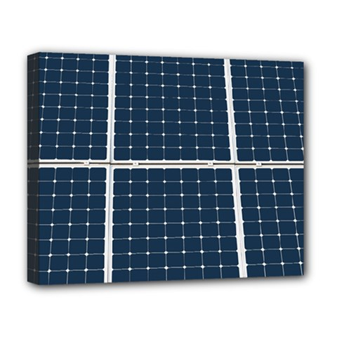 Solar Power Panel Deluxe Canvas 20  X 16   by FunnyCow