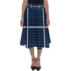 Solar Power Panel Perfect Length Midi Skirt by FunnyCow