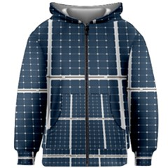 Solar Power Panel Kids Zipper Hoodie Without Drawstring by FunnyCow