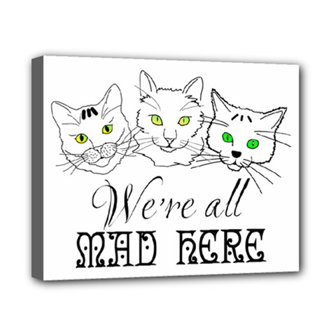 Funny Cats  We Are All Mad Here Canvas 10  X 8  by FunnyCow