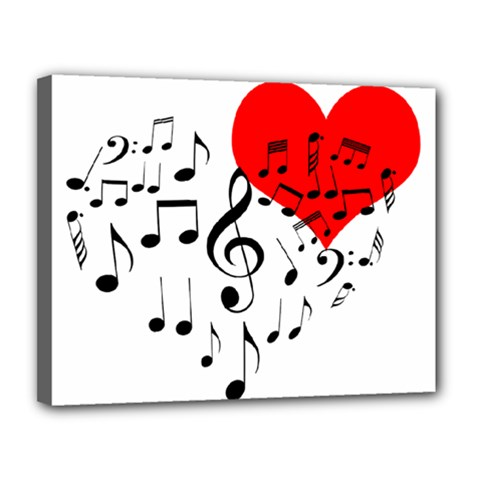 Singing Heart Canvas 14  X 11  by FunnyCow