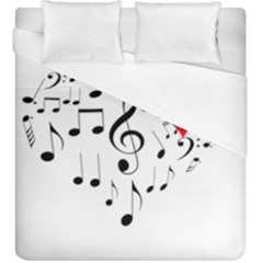 Singing Heart Duvet Cover (king Size) by FunnyCow