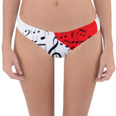 Singing Heart Reversible Hipster Bikini Bottoms by FunnyCow
