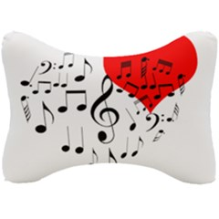 Singing Heart Seat Head Rest Cushion by FunnyCow