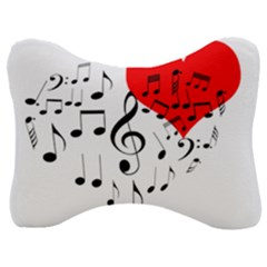Singing Heart Velour Seat Head Rest Cushion by FunnyCow