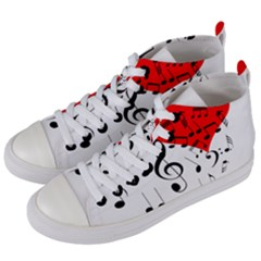 Singing Heart Women s Mid-top Canvas Sneakers by FunnyCow