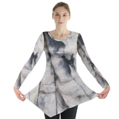 Canyon Rocks Natural Earth Art Texture Long Sleeve Tunic
