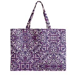 Colorful Intricate Tribal Pattern Zipper Mini Tote Bag by dflcprints