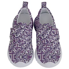 Colorful Intricate Tribal Pattern Velcro Strap Shoes by dflcprints