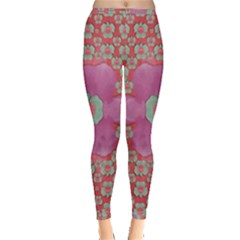 Fantasy Flowers In Everything That Is Around Us In A Free Environment Inside Out Leggings