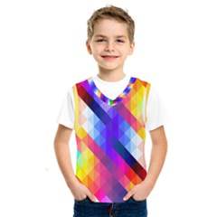 Abstract Background Colorful Pattern Kids  Sportswear