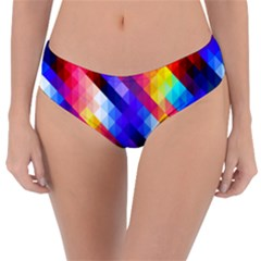 Abstract Background Colorful Pattern Reversible Classic Bikini Bottoms