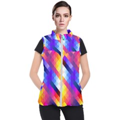 Abstract Background Colorful Pattern Women s Puffer Vest