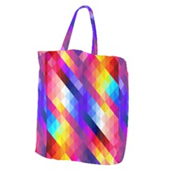 Abstract Background Colorful Pattern Giant Grocery Tote