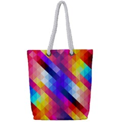 Abstract Background Colorful Pattern Full Print Rope Handle Tote (small) by Nexatart