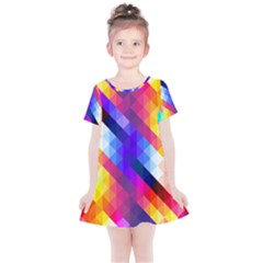Abstract Background Colorful Pattern Kids  Simple Cotton Dress