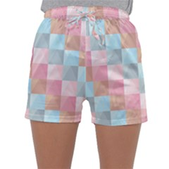 Abstract Pattern Background Pastel Sleepwear Shorts