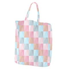 Abstract Pattern Background Pastel Giant Grocery Tote