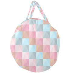 Abstract Pattern Background Pastel Giant Round Zipper Tote