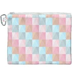 Abstract Pattern Background Pastel Canvas Cosmetic Bag (xxxl) by Nexatart