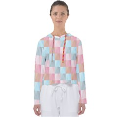 Abstract Pattern Background Pastel Women s Slouchy Sweat