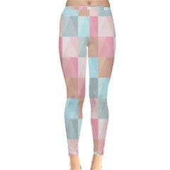 Abstract Pattern Background Pastel Inside Out Leggings