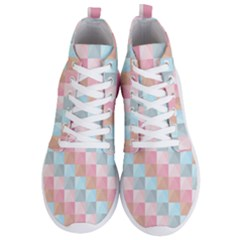 Abstract Pattern Background Pastel Men s Lightweight High Top Sneakers