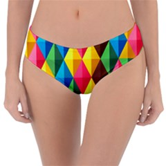 Background Colorful Abstract Reversible Classic Bikini Bottoms