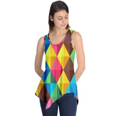 Background Colorful Abstract Sleeveless Tunic by Nexatart
