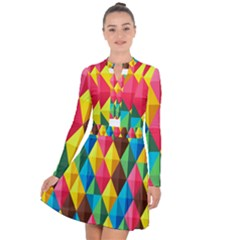 Background Colorful Abstract Long Sleeve Panel Dress by Nexatart