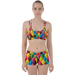 Background Colorful Abstract Women s Sports Set